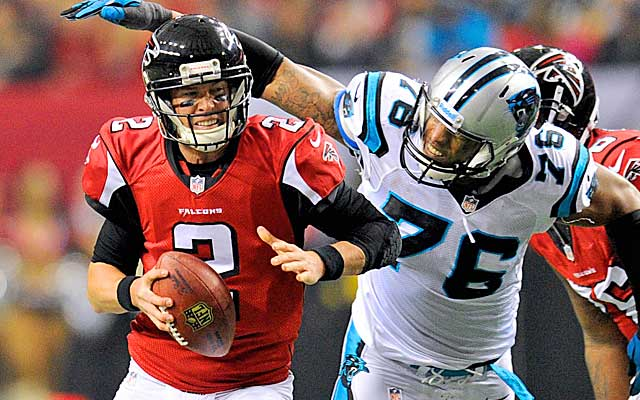 Matt Ryan took a pounding last season behind a struggling offensive line.     (USATSI)