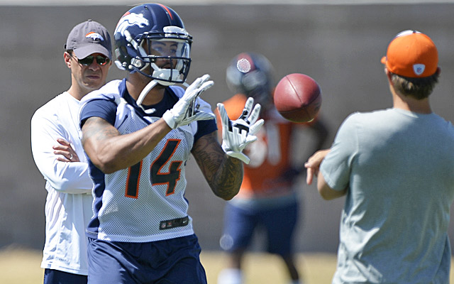 Cody Latimer figures to make up some of the production Eric Decker took to the Jets. (USATSI)