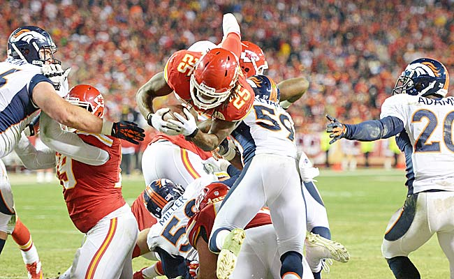 Who tied Jamaal Charles in rushing touchdowns? No peeking. (USATSI)