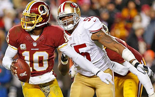 Ahmad Brooks often gets overlooked in San Francisco.   (USATSI)