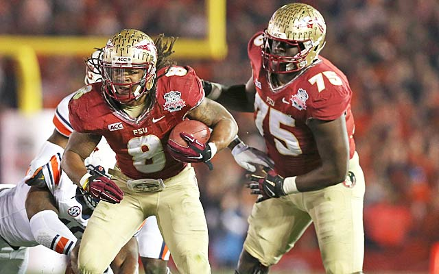 Karlos Williams (9) and Cameron Erving (75) are part of another monster FSU draft class. (Getty Images)