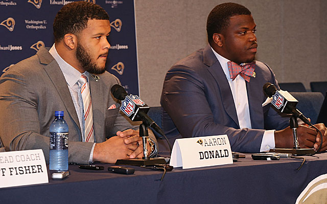 The Rams get bigger and stronger on both side of the ball with Aaron Donald and Greg Robinson. (Getty)
