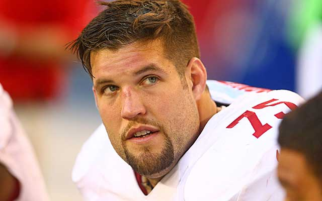 Is Jim Harbaugh sending a message to Alex Boone with the Joe Staley signing?   (USATSI)