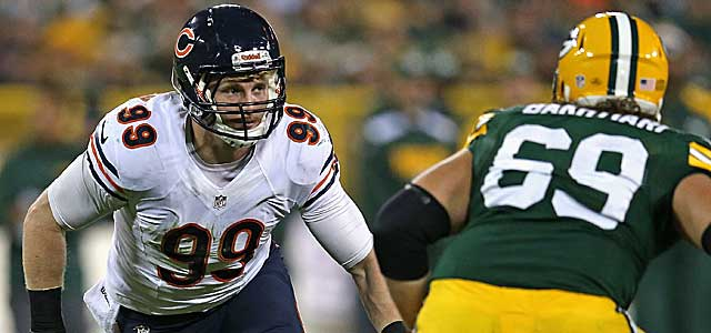 Bears LB Shea McClellin figures to be on the radar for league GMs. (Getty Images)