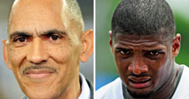 Tony Dungy/Michael Sam (USATSI)