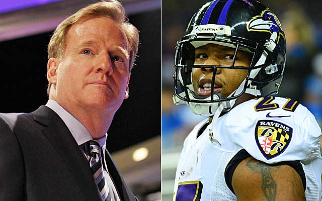 How does Roger Goodell justify only a two-game ban for Ray Rice?  (USATSI)