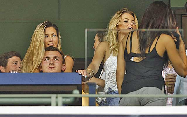Manziel's offseason has been full of jet-setting and photo ops.  (USATSI)