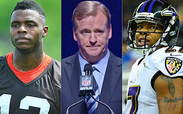 Roger Goodell faces scrutiny for his ruling on Ray Rice as he weighs Josh Gordon's fate. (USATSI)