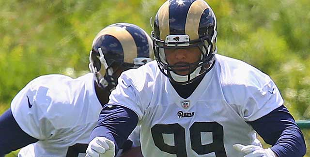 Rookie DT Aaron Donald has wowed the Rams' staff and vetarans in camp. (Getty Images)