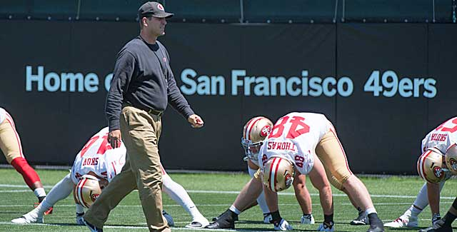Questions linger about how long Jim Harbaugh stays with the 49ers. (USATSI)