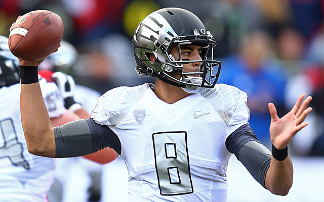 The Texans passed on a QB in the 2014 draft, but should get their man Mariota in 2015.  (USATSI)