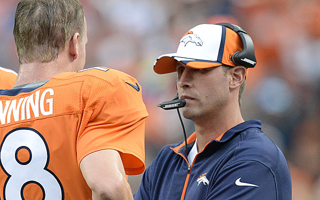 Adam Gase is only 36, but has the respect of Peyton Manning.  (Getty)