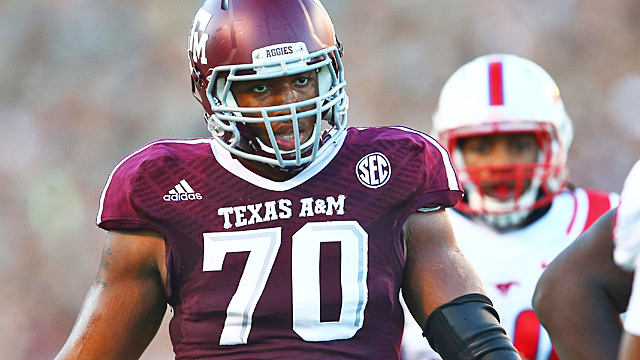 Cedric Ogbuehi will continue Texas A&M amazing run of high OT draft picks. (USATSI)
