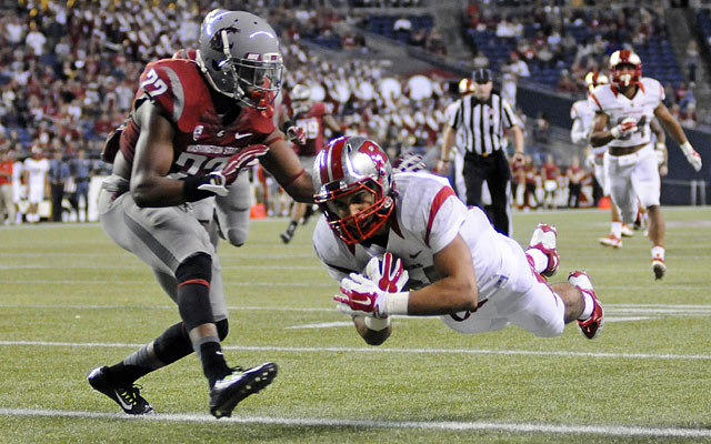 Rutgers' Paul James showed NFL running ability with 173 yards and three touchdowns at Wazzu. (USATSI)