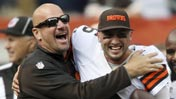 Mike Pettine; Brian Hoyer win 650 (USATSI)