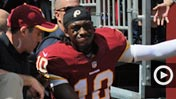Robert Griffin III carted off 650 (Getty Images)