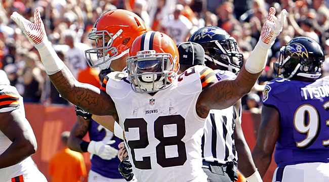 LIVE: Browns pull ahead of Ravens (CBS)