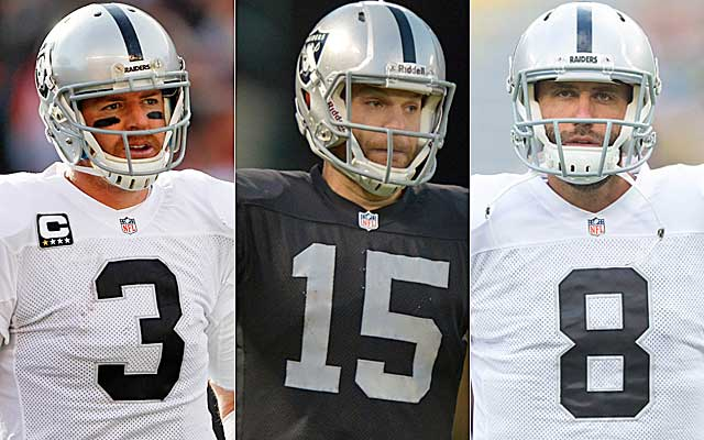Remember these guys? McKenzie has repeatedly missed on finding a franchise QB while in Oakland. (USATSI)