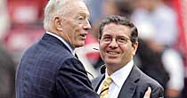 Jerry Jones, Dan Snyder (Getty)