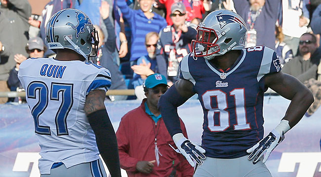 LIVE: Pats TE Wright has two TDs vs. Lions