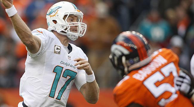 LIVE: Pesky Dolphins go up on Broncos (CBS)