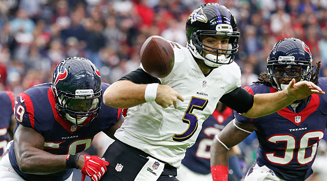 LIVE: Flacco, Ravens try to rally at Texans (CBS)