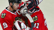 Emotional win for Blackhawks