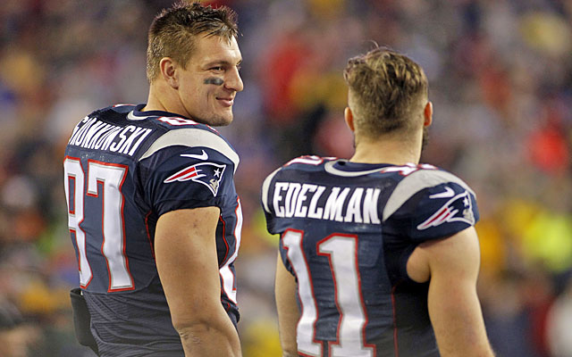 Rob Gronkowski is the Pats' most dynamic target, while Julian Edelman is Mr. Reliable. (USATSI)