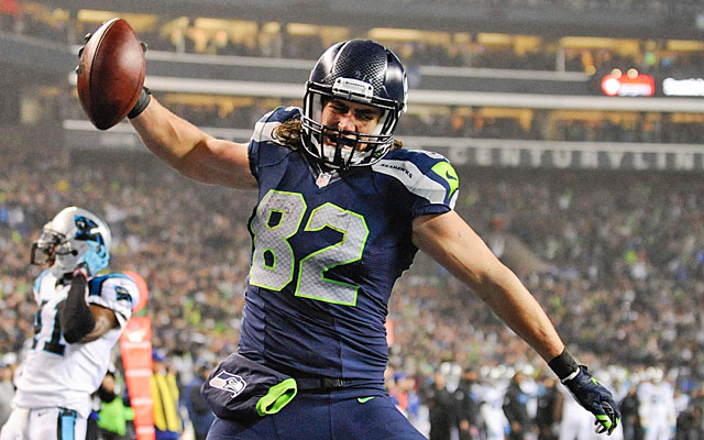 Seahawks tight end Luke Willson has become a dangerous play-action target. (USATSI)