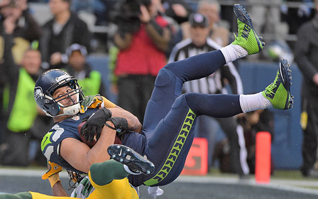 Jermaine Kearse made up for his drops vs. the Packers with the winning coach in OT. (USATSI)