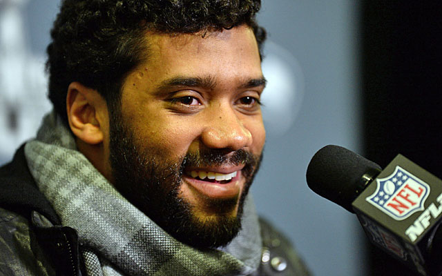 Russell Wilson arrived in Arizona on Sunday looking to lead the Seahawks to another NFL title. (USATSI)