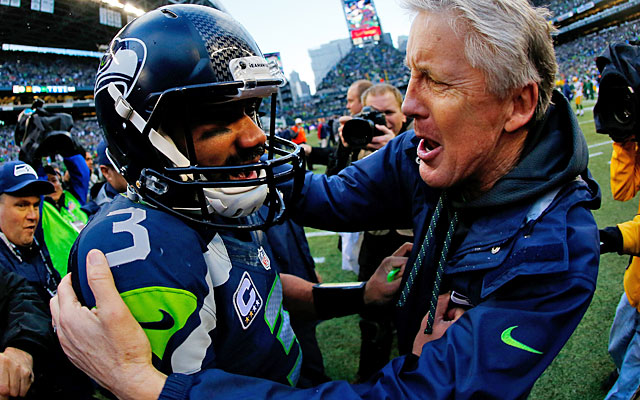 Wilson has a kindred spirit in coach Pete Carroll when it comes to mental preparation. (Getty Images)