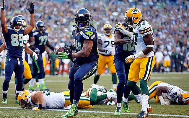 Marshawn Lynch is a beast after contact. (USATSI)