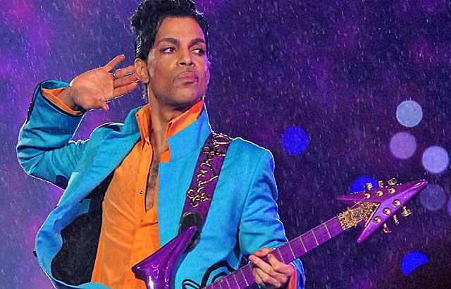 Purple rain comes down in Miami.  (Getty Images)