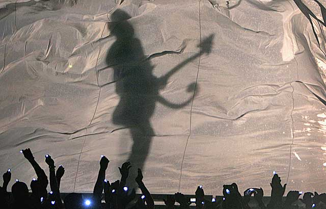 The Prince halftime spectacular, presented by Cialis.  (Getty Images)