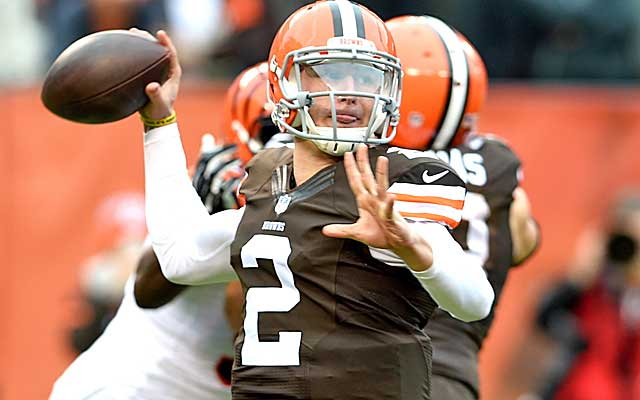 Johnny Manziel was woefully unprepared for his first NFL start against the Bengals. (Getty Images)