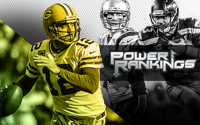 Aaron Rodgers and the Packers sit atop the pre-camp Power Rankings. (CBSSports.com Original)