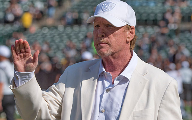 Mark Davis seems dead serious about moving his team to Vegas. (USATSI)