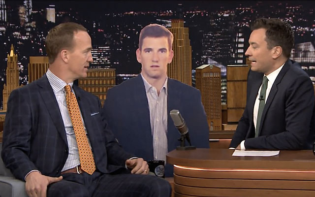 WATCH: Peyton Manning reveals the truth behind Eli's sad Super Bowl face