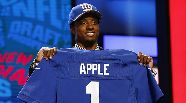 LIVE blog: Draft cooking as Giants pick Apple