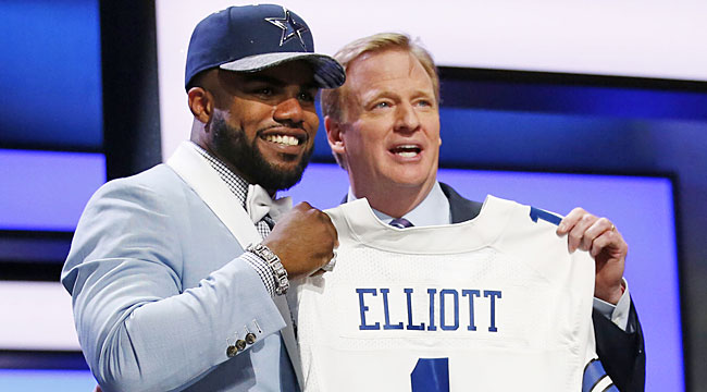 New Cowboys RB Elliott among Day 1 winners
