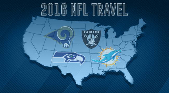 NFL's travel schedules