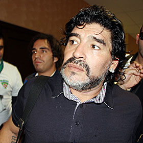 Diego Maradona: 'They put something in the coffee and that's why we ran more.' (Getty Images)