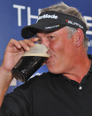 It's going to have to be 'Wait Watchers' for now, because Darren Clarke was into the Guinness early. (Getty Images)