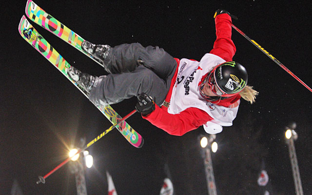 The best-known woman in freestyle skiing, Sarah Burke was a four-time Winter X Games champ. (Getty Images)