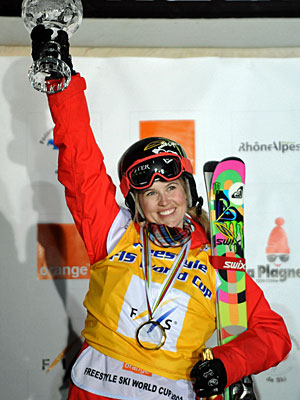 Sarah Burke won the ESPY for female action sports athlete of the year in 2007. (Getty Images)