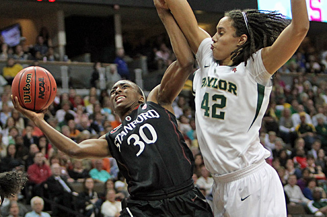 Brittney Griner scores 13 points and grabs nine rebounds to lead Baylor to a 59-47 win. (US Presswire)