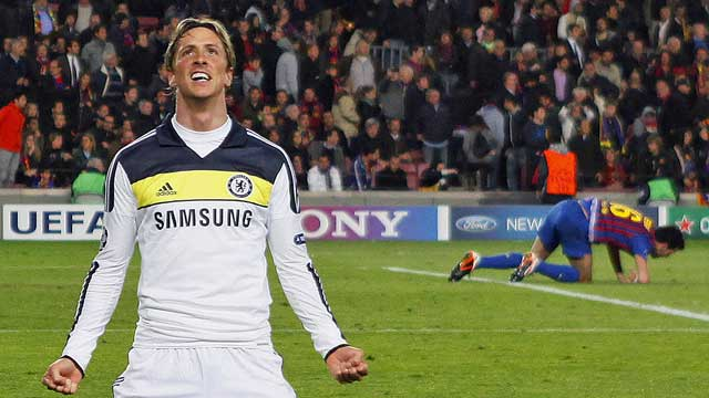 Chelsea's Fernando Torres seals the aggregate win on a goal in the first minute of stoppage time. (AP)