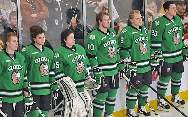 North Dakota voters turned out in record numbers to decide the fate of the Fighting Sioux nickname. (AP)