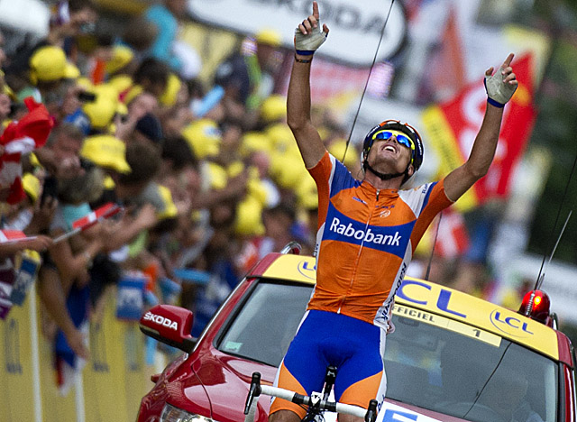 Sanchez claims his fourth total Tour stage win as he crosses the finish line in Foix. (Getty Images)